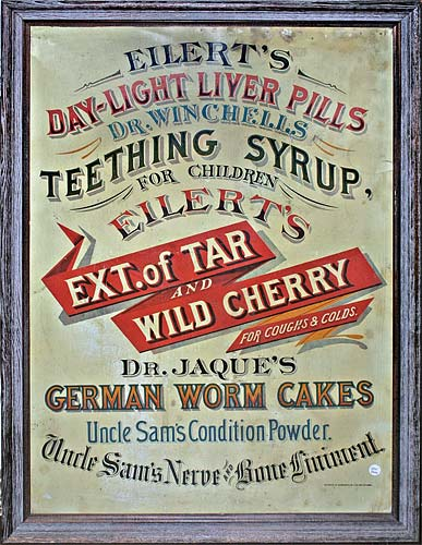 Tin Drug Store Sign