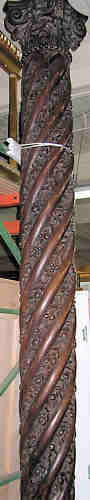 This is a photo of a pair of finely carved walnut columns.