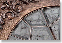 Oak China - Double Leaded Glass Detail