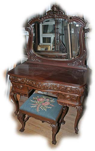 Horner Dressing Table with Bench and additional Mirror