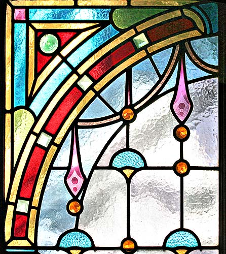 Four Seasons Staind Glass Windows - Upper Panel Detail